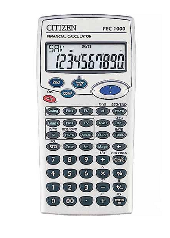 Calculators  Citizen Fec Financial Calculator