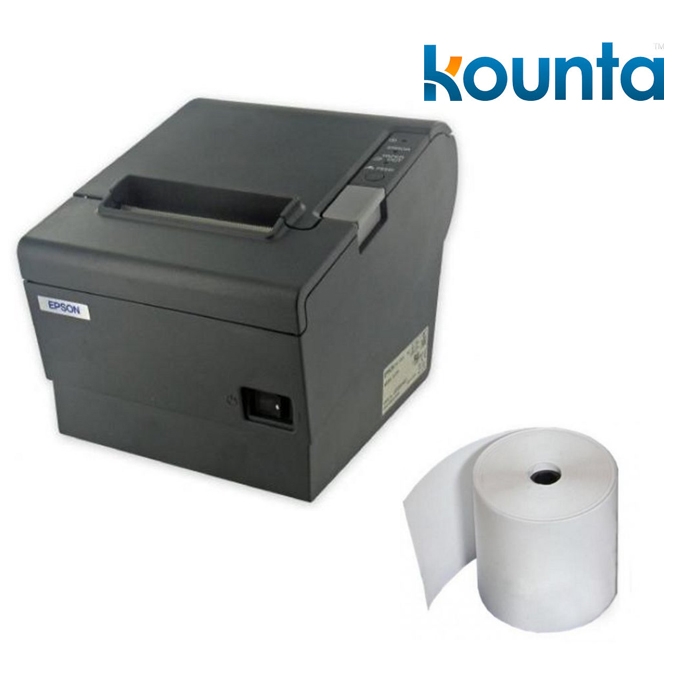 Kounta POS Bundle - Epson TM-T88V-I TMI Intelligent + 80X80 - Box of 24  Thermal Paper Rolls
